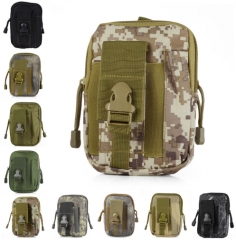 Outdoor Camping Hiking Bag Millitary Tactical Bag Molle Pouch Belt Loops Waist Bag pythone camouflage send free gift