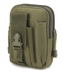 Outdoor Camping Hiking Bag Millitary Tactical Bag Molle Pouch Belt Loops Waist Bag amry green send free gift