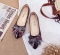 New Shallow Mouth Flat Shoes Female of the Bow Casual Shoes  Shallow Mouth  Single Shoes Women Black 35