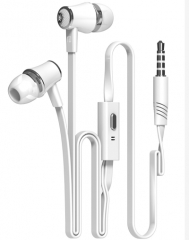 In-ear Earphone Colorful Headset Hifi Earbuds Bass Earphones High Quality Ear phones for Phone White
