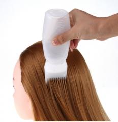 120ml Women's Fashion Hair Dye Bottle Applicator Brush Dispensing Salon Hairdressing Tool white 120ml
