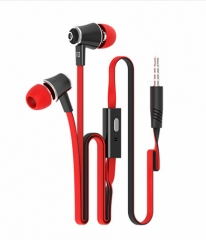 In-ear Earphone Colorful Headset Hifi Earbuds Bass Earphones High Quality Ear phones for Phone Black  red