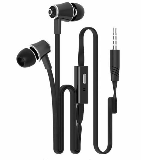 In-ear Earphone Colorful Headset Hifi Earbuds Bass Earphones High Quality Ear phones for Phone Black