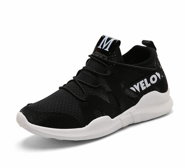 Sports Shoes  All-match White Shoes Height Increasing  Shoes Air Breathable Sport Shoes Black 36