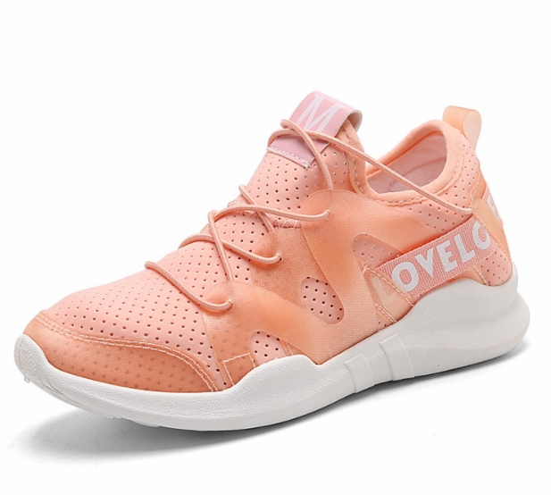 Sports Shoes  All-match White Shoes Height Increasing  Shoes Air Breathable Sport Shoes Pink 37