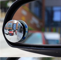 2pcs 360 Degree Rotable wide angle Round blind spot mirror Car Rearview Convex Mirror as picture 2pcs