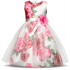 New Children Dresses For Girls Kids Formal Wear Princess Dress Birthday Party Events Prom Dress as picture 110cm