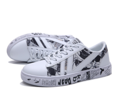 2019 New Designer Casual Fashion Canvas PU Shoes Street Leisure Sneakers Man Footwear White 39