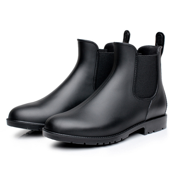 Woman Casual Shoes Waterproof Rainboots Outdoor Rainy Shoes Girls Ankle Boots Water Shoes Black 37