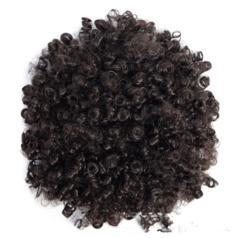Hot Sale Wig Hair States Hair Ball Head Fluffy Hairpin Hair black as picture