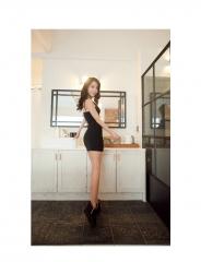 Strap dress hip Slim foreign trade 2018 women's dress(No shipping) s bule