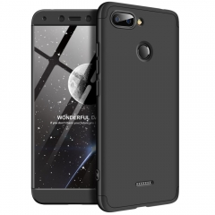 Frosted Hard PC Back Cover Full Body Shockproof 3 Detachable Parts Case for Xiaomi Redmi 6 black Xiaomi Redmi 6