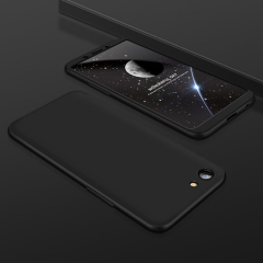 Three-parts Structure Metallic Luster Hard PC Shockproof Protection Case for OPPO A83 black oppo a83