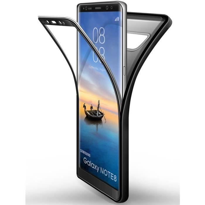 Matte Finish 2 in 1 Full Protection with Tempered Glass Screen Protector for Samsung Galaxy Note 8 black samsung galaxy note 8