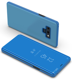 Translucent View Mirror Case Flip Electroplate Stand Smart Cover for  Samsung Galaxy Note 9 blue samsung galaxy note 9