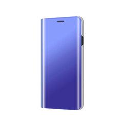 Translucent Mirror Case Protector Flip Cover for Samsung Galaxy J2 Pro/Grand Prime Pro blue Samsung Galaxy J2 Pro (2018) / Grand Prime Pro