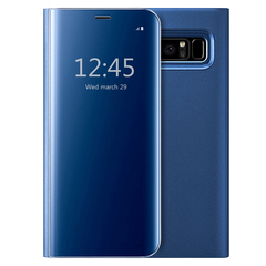 S-View Flip Case Ultra Slim Translucent Mirror Smart Case Cover for Samsung Galaxy Note 8 blue samsung galaxy note 8