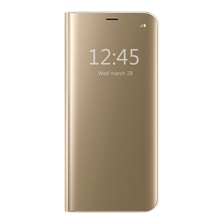 S-View Flip Case Ultra Slim Translucent Mirror Smart Case Cover for  Samsung Galaxy Note 5 gold Samsung Galaxy Note 5