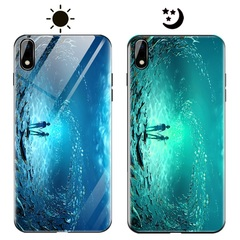 Dream Luminous Tempered Glass Back Case For Apple iPhone X iPhone XR eternal sea iphone x