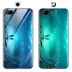 Dream Luminous Tempered Glass Back Case For Apple iPhone 7 Plus iPhone 8 Plus eternal sea iphone 7 plus/8 plus