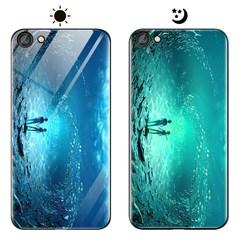 Dream Luminous Tempered Glass Back Case For VIVO V5 lite V5 VIVO X9 VIVO Y71 Y83 eternal sea vivo y71