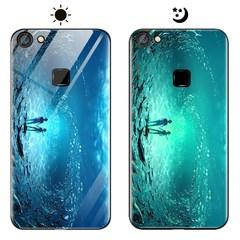 Dream Luminous Tempered Glass Back Case For VIVO V7 VIVO V7+ eternal sea vivo v7/vivo y75
