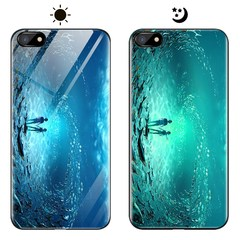 Dream Luminous Tempered Glass Back Case For VIVO X9 Plus VIVO X9s Plus eternal sea vivo x9 plus