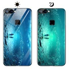 Dream Luminous Tempered Glass Back Case For VIVO X20 VIVO X20 Plus eternal sea vivo x20 plus