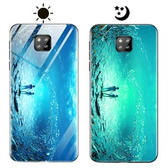 Dream Luminous Tempered Glass Back Case For Huawei Mate 20 Pro eternal sea huawei mate 20 pro