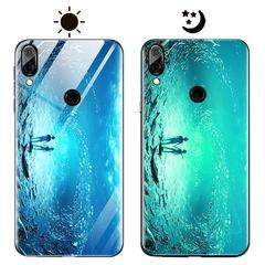 Dream Luminous Tempered Glass Back Case For Huawei Y9 2019 Honor 8C Huawei nova 3 Huawei P20 lite eternal sea huawei honor play
