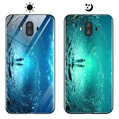 Dream Luminous Tempered Glass Back Case For Huawei Mate 10 eternal sea huawei mate 10