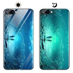 Dream Luminous Tempered Glass Back Case For Huawei nova 2s honor 10 honor view 10 eternal sea huawei honor 10