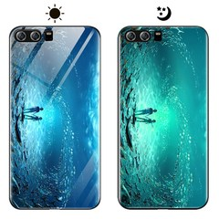 Dream Luminous Tempered Glass Back Case For Huawei P10 P10 Plus Huawei Honor 9 eternal sea huawei honor 9