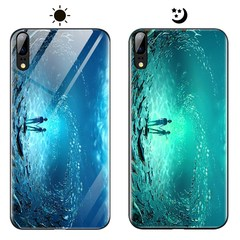 Dream Luminous Tempered Glass Back Case For Huawei P20 eternal sea huawei p20