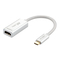 USB C(Type-C) To HDMI Adapter (Thunderbolt 3 Compatible) With Gold-Plated HDMI Port Silver HDMI