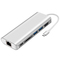 USB C HUB,6 in 1Adapter, Gigabit Ethernet RJ45,4K HDMI,PD Charging Port,2*USB 3.0 and SD Card Reader Silver S1603