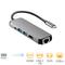 USB C Hub, 5 in 1 Multiport Adapter, HDMI, USB 3.0 ports, RJ45 Ethernet, PD 2.0 Charging Port Light Grey S1610