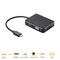USB C Hub, 7 in 1 Multiport Adapter, USB 3.0 ports, 4K HDMI, VGA, Card Reader, PD 2.0 Charging Port Black S1673