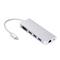 USB C Hub, 6 in 1 Multiport Adapter, VGA, USB 3.0 ports, HDMI, RJ45 Ethernet, PD 2.0 Charging Port Silver HDMI+VGA