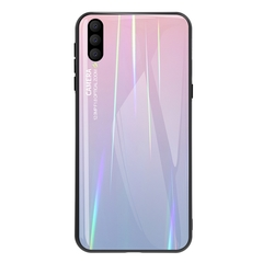Gradient Tempered Glass Plating Backplane Thin Soft TPU and Hard PC Protective Case for Xiaomi Mi 9 Pink Xiaomi Mi 9