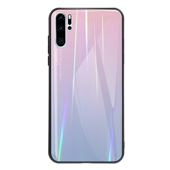 Gradient Tempered Glass Plating Backplane Soft TPU and Hard PC Protective Case for Huawei P30 Pro Pink Huawei P30 Pro