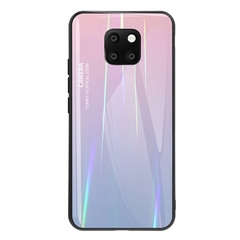 Gradient Tempered Glass Plating Backplane Thin Soft TPU Protective Case for Huawei Mate 20 Pro Pink Huawei Mate 20 Pro