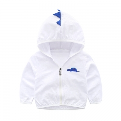 Children's thin coats cartoon lightweight breathable kids cotton baby boys sun protection clothing white 90