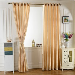 100 x 250CM Pure Color Grommet Ring Top Blackout Window Curtain for Bedroom Living Room BEIGE One Size