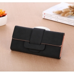 2018 New Women wallets leather purse high quality  Long Section Wallet Cool Women Wallet black all size