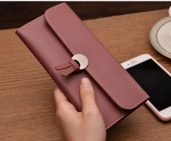 Vintage quality PU Leather Long Fashion Women Wallets Designer Lady Party Wallet Female Card Holder wine red all size