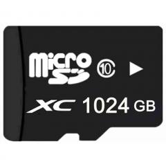 1024GB 1TB Flash Memory Card  Class10 TF Card Micro SD Card 1024G 1T + Reader black micro sd 1024GB high speed
