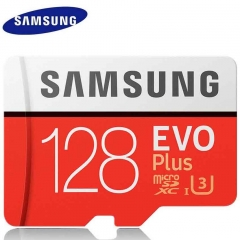 Samsung EVO Plus U3 Memory Card 128GB 128G Class10 TF Card Micro SD + Adapter red micro sd 128gb high speed