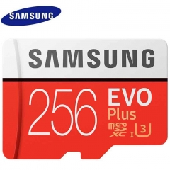 Samsung EVO Plus U3 Memory Card 256GB Class10 TF Card Micro SD 256G + Adapter red micro sd 256gb high speed