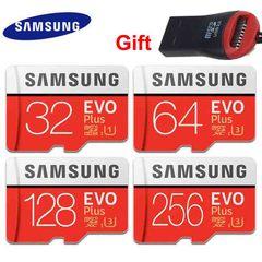 Samsung Evo Plus 256GB 128GB 64GB 32GB Micro SDHC Class10 UHS-I W/ SD Adapter red micro sd 128gb high speed